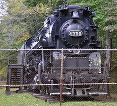 Logan, West Virginia (2 of 5) (Bob McGilvray Jr.) Tags: statepark railroad train display tracks engine steam westvirginia co locomotive logan fenced 1947 steamlocomotive 284 chesapeakeohio limalocomotiveworks chiefloganstatepark