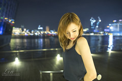 Fiona night (Alphone Tea) Tags: life city travel light portrait woman sexy girl beautiful lady night wonderful print amazing model eyes lowlight singapore colorful asia pretty slim dress photoshoot bright sweet bokeh modeling outdoor album great young makeup like attractive handheld 24mm lovely mbs facebook 6d 2014 marinabay 2414 ef24mmf14liiusm atphotography