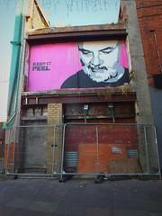 Empty Walls 2014: Lembo (DJLeekee) Tags: streetart pasteup art festival graffiti stencil cardiff tribute johnpeel womanbystreet lembo emptywalls