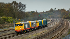 Class 20's no's 20118, 20132, 20107 & 20096 at Clay Cross on 30-10-2014 with a Barrow Hill to Derby move (kevaruka) Tags: uk greatbritain autumn england colour train canon october flickr colours unitedkingdom derbyshire railway trains 5d frontpage britishrail nottinghamshire 2014 networkrail 20097 20107 20118 class20 railfreight claycross tupton canonef135f2l 20132 canon5dmk3 5dmk3 5d3 5diii canoneos5dmk3 ilobsterit