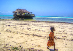 The Rock, Michamvi (esinuhe69) Tags: ocean africa beach beautiful rock tanzania restaurant kid sand colours eating walk unique indian magic together relish experience zanzibar miss colori sensations ristorante indiano blend oceano sabbia bambina the camminare michamvi esinuhe69 pingwe michanwi