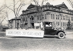 Float for the homecoming parade, 1928. (NDSU University Archives) Tags: homecoming floats northdakotastateuniversity