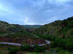 """Rainbow fragment above rocky hills • <a style=""""font-size:0.8em;"""" href=""""http://www.flickr.com/photos/34843984@N07/15521399996/"""" target=""""_blank"""">View on Flickr</a>"""