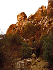 "Orange light hitting towering boulders • <a style=""font-size:0.8em;"" href=""http://www.flickr.com/photos/34843984@N07/15544138271/"" target=""_blank"">View on Flickr</a>"