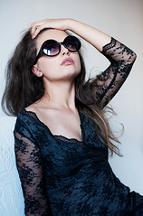 Debby (lucrecia lee) Tags: portrait woman girl beautiful beauty face sunglasses fashion glasses bigeyes glamour lace gorgeous longhair shades graceful youngwoman blackdress glamorous fulllips