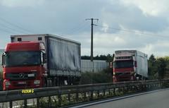 Red Rigs (Coco the Jerzee Busman) Tags: man france truck mercedes volvo renault lorry artic rennes scania daf rigid drawbar