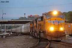 Eastbound UP Manifest Train at Kansas City, MO (Mo-Pump) Tags: railroad train locomotive railfan railroader
