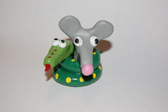 Snake & Mouse (Steve W Lee) Tags: mouse toys rat snake figurines clay sculpey boaconstrictor sculpeyclay