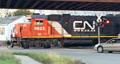 Clearing the Crossing (SW Rail Photos) Tags: cn ic waupaca emd gp382 illinoiscentral l595 localfreight