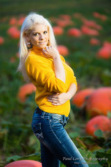 (Paul Cory) Tags: lighting camera people woman fall fashion female season lens pumpkin model unitedstates availablelight farm northcarolina naturallight pumpkinpatch gel onlocation strobe wakecounty geolocation postprocessing canoncamera tamronlens modifiers elizabethhoffman radiotrigger niksoftware camera:make=canon exif:make=canon 14ctogel canon5dmkiii canon430exii canonstrobe exif:aperture=28 colorefexpro4 buffparaboliclightmodifierplm exif:model=canoneos5dmarkiii camera:model=canoneos5dmarkiii yn622c tamron70200f28vc exif:lens=tamronsp70200mmf28divcusda009 exif:isospeed=1600 exif:focallength=152mm