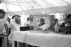 Doha - A man sold doves (Bony Nguyen) Tags: street blackandwhite bw market streetphotography streetlife poeple doha qatar quatar artistsontumblr lensblr photographersontumblr x100s fujifilmx100s