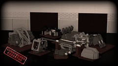 Gtterdmmerung disassembled (Sunder_59) Tags: germany lego military nazi wwii soviet vehicle mecha mech povray acv moc ldd