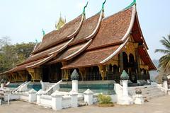 Wat Xieng Thong, with Black and gold stencilled murals, Luang Prabang (cricketfield23) Tags: crafts murals textiles laos photostream wats laungprabang