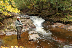 Fishing On The Little Carp River (Robert F. Carter) Tags: fishing littlecarpriver porcupinemountainswildernessstatepark theporkies porcupinemountains rivers rapids waterfalls fishermen fall autumn fallcolors crookedtreephotographicsociety robertcarterphotographycom ©robertcarter puremichigan