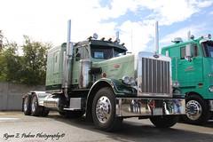 Goin Green (RyanP77) Tags: show wheel truck cattle dump semi chrome rig pete heavy stockton tanker peterbilt 389 359 hauler cabover 388 379 352 daycab