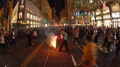 San Francisco Giants Fans Celebrating World Series Win 2014 (Anthony Quintano) Tags: sf sanfrancisco riot crowd police giants fans marketstreet sanfranciscogiants