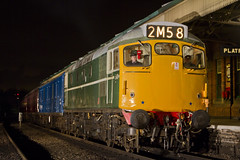 IMG_1099-D5401 (Roger J Brown) Tags: green blue transition era newspapers mail offloaded loughborough emrps photo charter evening wednesday 25th february 2015 gcr roger brown canon 7d sigma heritage railways steam