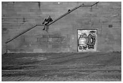 Treppenhocker (Christoph Schrief) Tags: frankfurtammain mainufer altebrücke leicam2 zeisscbiogon2835 agfaapx100newneu rodinal 20° 150 10min sw film analog selfdeveloped