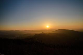 Sonnenuntergang Mahlbergturm - 002