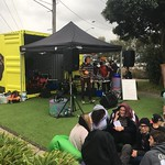 It's all happening at the Watsonia Pop Up Park, Jets Open Mic is going off!