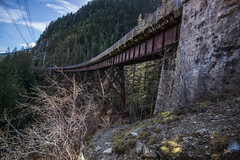 The Iron Horse Trail (writing with light 2422 (Not Pro)) Tags: what theironhorsetrail thejohnwaynepioneertrail trestle trail hiking hikingtrail washingtonstate richborder armyfiringrange sonya77