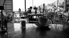 favorite place for breakfast (pepe amestoy) Tags: blackandwhite streetphotography people elcampello spain fujifilm xe1 voigtländer color skopar 421 vm leica m mount