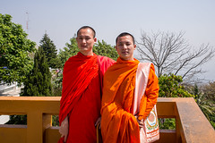 Chiang Rai - Thailand (waex99) Tags: 2017 feb leica m262 travel asia chaing chaingai chiangmai holidays mai rai rangefinder thailand man monk young doi sutheep temple landscape view orange moine boudiste buddhist