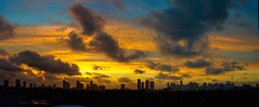 One of Downtown Miami's sunrises. © ® (The Sergeant AGS (A city guy)) Tags: allapattah sunrise earlyinthemorning colors city cityscapes urban urbanexploration skies skycraper skyline clouds outdoors miamifl miamicity