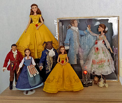 Beauty and the Beast Collection (Lagoona89) Tags: disney beauty beast batb belle gaston limited edition dolls enchanted rose film collection