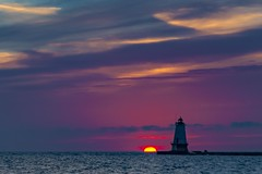 A beautiful ending (Notkalvin) Tags: ludington michigan lighthouse light sunset lakemichigan outdoor shore water greatlakes notkalvin mikekline notkalvinphotography nature