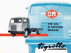 Dépliant publicitaire O.M. UNIC Tigrotto - 1960 (Châssis cabine) (xavnco2) Tags: publicité advertising werbung pubblicità dépliant publicitaire folder brochure catalogue camion truck lorry autocarro lkw om tigrotto classic old 1960 véhicules gueguette80