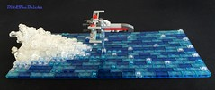 Classic Xwing water diorama (did b) Tags: lego legomoc legocreation legodesign moc microscale xwing starwars diorama