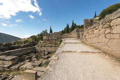 """Delphi, The sacred way, I - Sikyonians & Siphnians Treasuries (egisto.sani) Tags: """"archaic period"""" arcaico periodo treasury tesoro building edificio """" siphnian treasury"""" """"tesoro dei sinfi"""" """"sikyonians' sicioni"""" phocis focide delphi delfi """"archaeological museum"""" """"museo archeologico"""""""