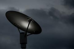 transmitting (e-box 65) Tags: light lamp sky clouds minimalistic dark oslo norway colorline