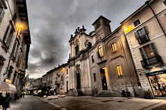 -First Evening Lights- (Explore) (Roberto Rubiliani) Tags: canon chiesa church culture chiese architettura architecture buildings edifici lombardia lodi rubiliani roberto italia italy street city urban