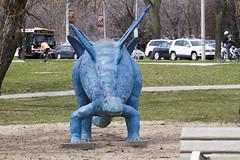 Playground dinosaur (jer1961) Tags: toronto sunnyside sunnysidepark playground dinosaur stegosaurus playgrounddinosaur