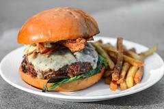 Blackened Cheeseburger (joshbousel) Tags: beef burger cheese cheeseburger eat food hamburger meat pepperjack