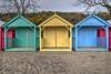 Beach Hut HDR (Brian The Euphonium) Tags: llanbedrog beachhuts hdr photomatix colourful pentax sigmalens northwales ks2 sigma1020mm