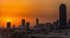 bahrain sunset (azahar photography) Tags: bahrain seef manama arab arabia architecture asia bfh block blue boat building business centre city day east financial flag glass gulf harbor harbour high highway landmark light middle modern night office rise skycrapper skyline skyscraper tall tower trade traditional tree vehicle