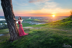 Fanny // Côte des Deux Amants (BastoShots Photography) Tags: 2017 2470 5d bastien blending brune canon dress fanny girl iii landscape manual mark normandie paccaud photoshop robe sexy soirée sunset