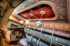 Spotlight (Batram) Tags: urbex hotel ballroom ballsaal stairs circular wendeltreppe hdr lost place fürstenhof eisenach