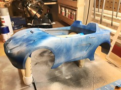 Blue Roadster (Weapon_X_Wolverine) Tags: repaintedtoys modifiedtoys blue bluecar 16scale sportscar 2seater roadster barbie