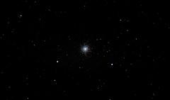 M13 Great Hercules Cluster via 80mm refractor from London living room window on Alt Az mount - Improved (Tej Dyal) Tags: london m13 hercules cluster skywatcher equinox 80 80mm refractor celestron nexstar 8se