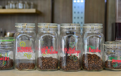 Coffee bean in glass bottles at the shop (phuong.sg@gmail.com) Tags: addiction aromatherapy bean bottle cafe caffeine canister canned coffee conservation conserve container cover domestic drink food fragile glass glassware gourmet grinding homemade ingredient jar kitchen lid mocha perfume pot preserve products scented seasoning seed still storage store strength thing traditional transparent