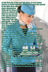 flight attendant Marie (Marie-Christine.TV) Tags: feminine tansvestite lady mariechristine flightattendant stewardess flugbegleiter skirtsuit kostüm