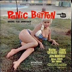 Panic Button--Album Sleeve (kevin63) Tags: lightner photo women kitsch bitsch facebook old vintage pictures panic button maurice chevalier soundtrack movie film sixties woman blond scantilyclad voluptuous grass prone lying janemansfield eleanorparker 3313 lp vinyl record