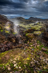 (Olmux82) Tags: iceland rocks volcano clouds green land landscape volcaniclands trip