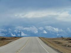 Prairie clouds and highways (benlarhome) Tags: drumheller alberta canada nwn autofocus