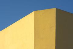 Three shades of yellow (Jan van der Wolf) Tags: map16842v wall muur lines lijnen minimalism minimalisme minimal minimlistic abstract shades tinten yeloow yellow geel grancanaria arinaga