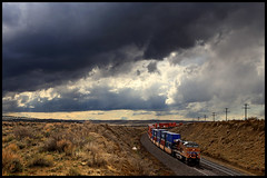 UP 8084 (golden_state_rails) Tags: up union pacific rawlins subdivision wy wyoming sky storm overland route